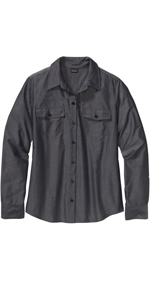 Patagonia W's Overcast L/S Shirt Chambray: Navy Blue